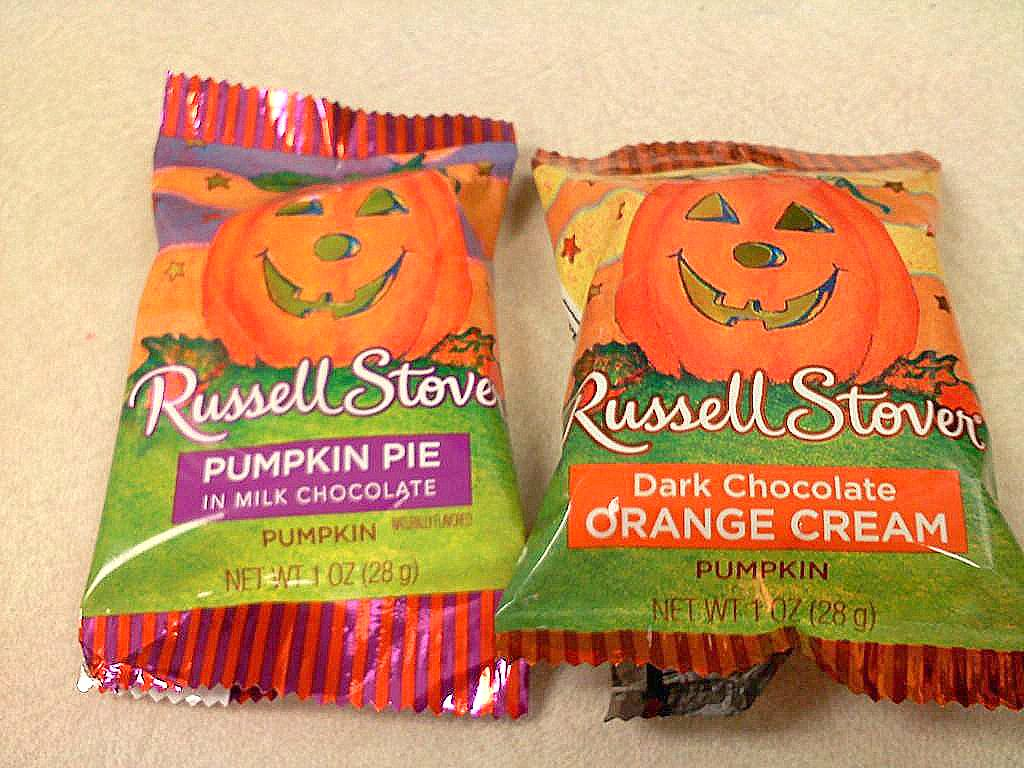 russell stover's pumpkin pie & orange cream pumpkin chocolate