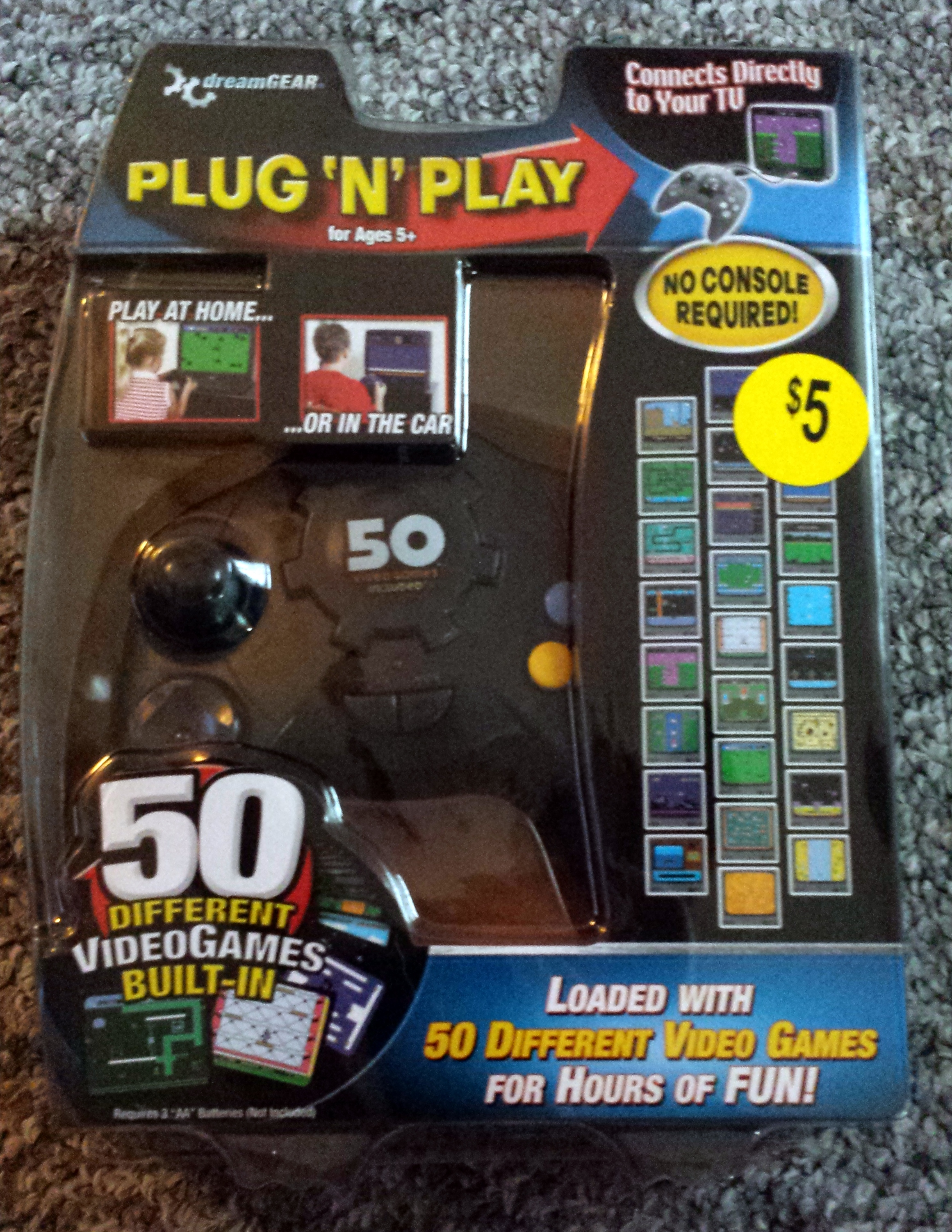 Tv Games Plug Into : Dreamgear plug 'n play controller with games the
